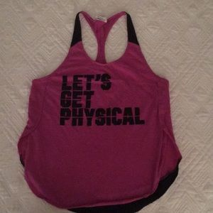 Victoria's Secret Pink Let's get physical tank